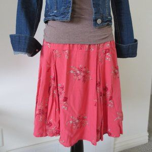 Old Navy Pink Floral Print Skirt - M